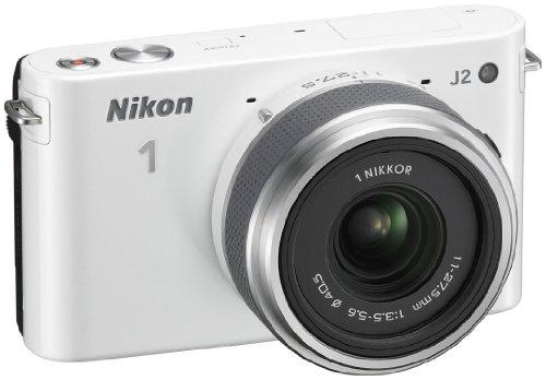 Nikon 1 J2 Systemkamera (10,1 Megapixel, 7,5 cm (3 Zoll) Display) Kit inkl. Nikkor 11-27,5 mm weiß - 4