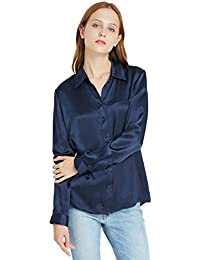 03c04293e18c84 LILYSILK Ladies Silk Blouse Long Sleeve Women Top Shirt 22 Momme Pure  Mulberry Silk