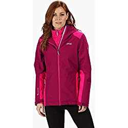 Regatta Damen Womens Wentwood IV Waterproof & Breathable Hooded Hiking 3-In-1 Outdoor Jacket with Insulated Hybrid Inner 3 in 1s, Rot - Beetroot, 18