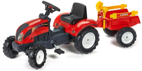 Falk - 2051C - giochi all'aperto - Trailer Ranch Trac Escavatore Rateau &