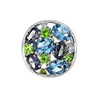 CRISTALICA Venus Ring Size Q Zirconia 925 Sterling Silver Rhodium Plated Heat Collection
