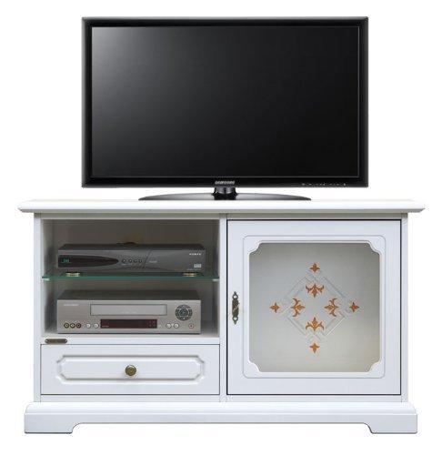 TV-Schrank mit Dekor und Glastür