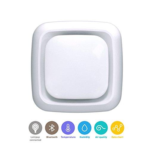 Lollipop camera, HD-WLAN-Baby/Haustier-Überwachungskamera, unterstützt 2 Kameras/Nachtsicht/Geräusch- und Schreierkennung/2-Wege-Kommuinikation, Wandmontage (Sensor)