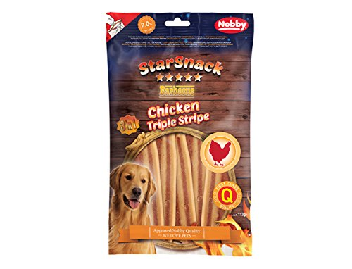 Nobby Starsnack Chicken und Beef Strips, 6er Pack (6 x 113 g)