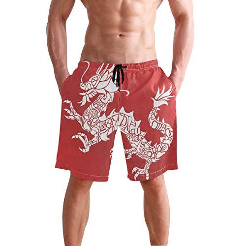 LORONA - Bañador para Hombre con diseño de dragón Multicolor Multicolor XXL