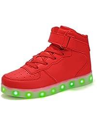 Voovix Kinder Licht Schuhe Blinkende Sneaker LED Leuchtende High-Top USB Aufladen Shoes für Jungen und Mädchen
