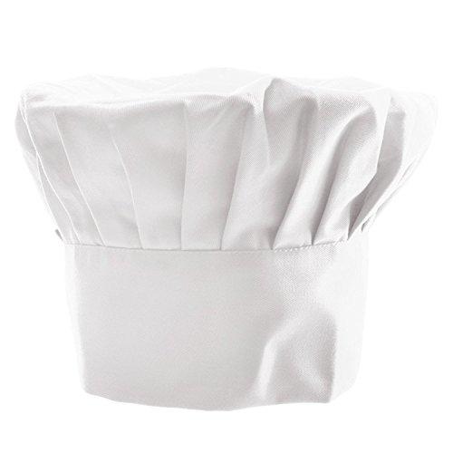 Little Sporter Unisex Koch Hut Kochmütze Chef Hut Hotel Restaurant Chef Arbeit Kappe Küche liefert Kuchen Shop Lebensmittel Staub Hygiene weiß Tuch Männer und Frauen Tuch Hut Weiß
