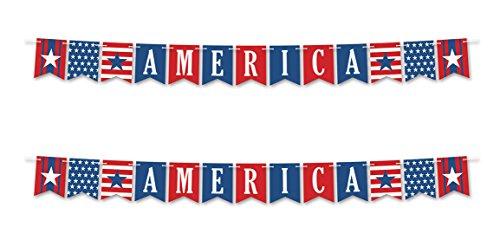 (Beistle 59969, 2Stück America Luftschlangen, 15,2cm X 8')