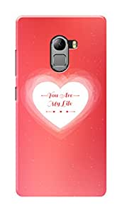 Lenovo Vibe K4 Note Black Hard Printed Case Cover by Hachi - You Are My Life Design