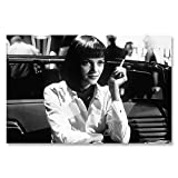 Box Prints Pulp Fiction Mia Wallace poster stampa cornice foto arte nero bianco piccolo grande