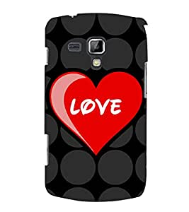 PrintVisa Designer Back Case Cover for Samsung Galaxy S Duos 2 S7582 :: Samsung Galaxy Trend Plus S7580 (Love Quote)