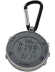 Docooler Mini Thermomètre de Pêche Multi-fonction 3ATM étanche Altimètre Rétroéclairage LCD Piste Prévisions Météo Heure Date