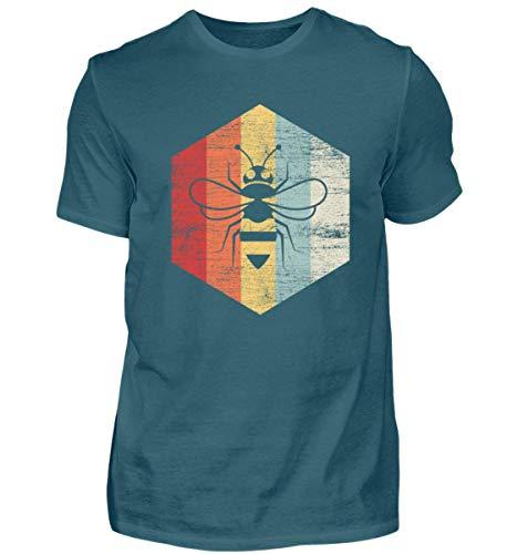 (Biene Retro - Honigbiene - Imker - Honig - Bienenkönigin - Tierschutz - Tier - Tiere - Herren Shirt)