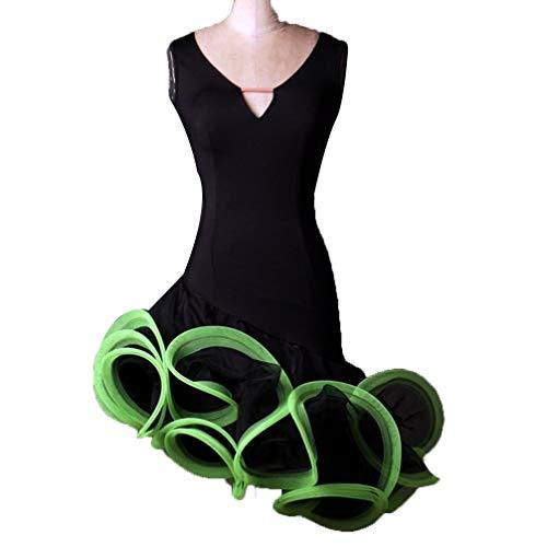 Gift Kostüm Y V I - CX Strass Ärmelloses Professionelles Latin Dance Wettbewerb Kleid Tango Rumba ChaCha Performance Kostüm Fishbone Rock , Eine Vielzahl Von Stilen (Farbe : I, größe : L)