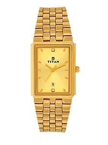 Titan Karishma Analog Gold Dial Men's Watch - NC1383YM02