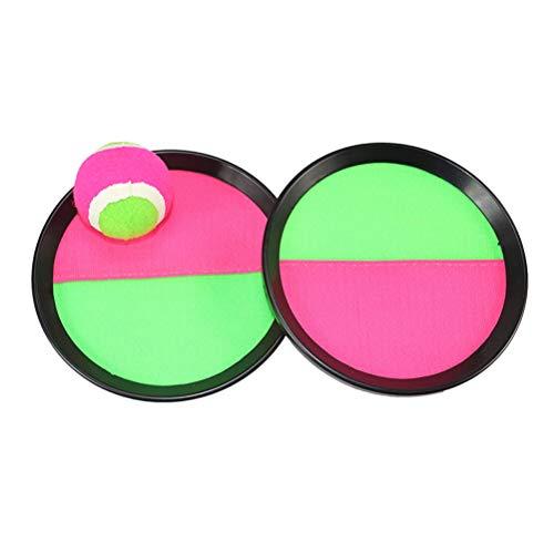 LIOOBO Paddle Tennis Spielzeug Ball Werfen und Fangen Sport Ball Werfen Fangen Bat Ball Game Set Spielzeug (Freien Spielen Im Park)