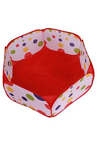 VWH Teepee-Spiel-Zelt, Easy Folding Kinder Spiel-Zelt, Außenspielhaus Spielzeug Hütte & Ozean Ball Pool