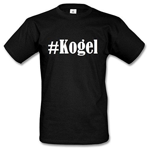 T-Shirt #Kogel Hashtag Raute für Damen Herren und Kinder ... in den Farben Schwarz und Weiss Schwarz