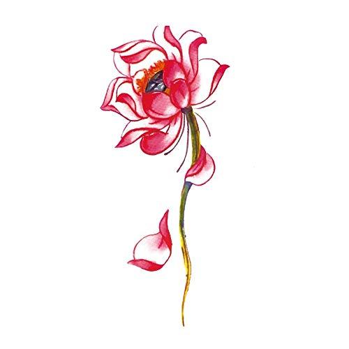 308 Pflaume (HXMAN Blume Tattoo Aufkleber Wasserdicht Langlebig Ekolierte Rose Pflaume Pflaume Arm Körper Kunst Flash Tattoo Aufkleber Simulation (2 Pack) TL-291)