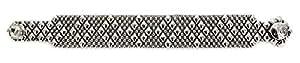 Bracciale in argento, stile antico, B4, come SG Liquid Metal da Sergio Gutierrez & SG-Custodia e panno per la pulizia incluso, argento-placcato-base, colore: argento, cod. B4-AS
