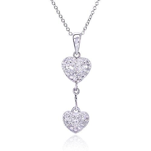 Rotondo, taglio diamantato, con ciondolo a forma di cuore, 3/8 k (ctw) in oro bianco 18 k, oro bianco 14 k,)