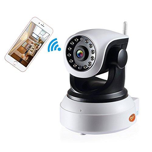Preisvergleich Produktbild NexGadget IP Kamera HD WiFi Überwachungskamera, P2P, Sicherheitskamera mit 2-Wege Audio Kanal, Videoaufzeichnung und Geräuscherkennung, Bewegungserkennung horizontal / vertikal