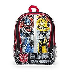 Mochila de Transformers, caras de Optimus Prime y Bumblebee, bolsa de 40,6cm, 857308