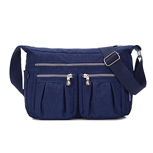 MeCooler Umhängetasche Damen Kuriertasche Leichter Messenger Bag Wasserdicht Taschen Designer Schultertasche Mode Sporttasche für Reisetasche Blau 1