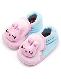 Infano Teddy Style Cotton Pink And Blue Color Unisex Baby Shoes New (3-9 Months,1 Pair)