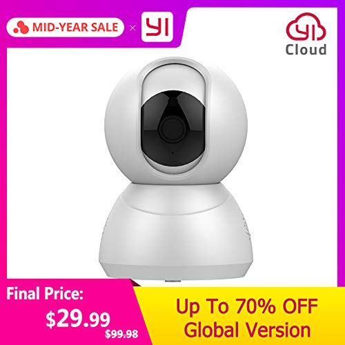 Überwachungskamera Speed Dome Kamera 1080P Wireless Indoor Smart Security Home Cam Motion Detection Nachtsicht Zwei-Wege-Audio Yi Lot App Usa