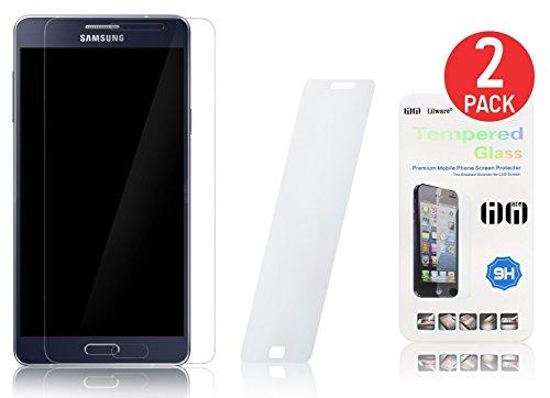 2 x Lilware Tempered Glass Screen Protector per Samsung Galaxy A7 SM-A700F. Protezione Antigraffio dello Schermo Frontale Estremamente Durevole.