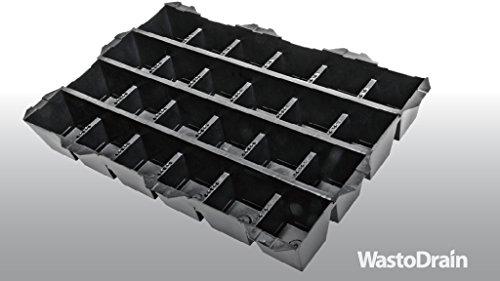 1,08m² = 5 Platten Dachbegrünungsplatten WastoDrain