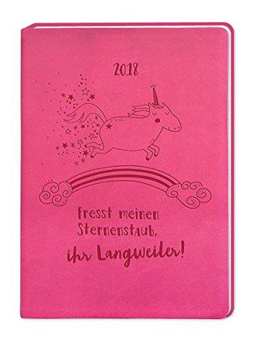 Timer Pink (Einhorn) A6 2018: Terminplaner in Lederoptik