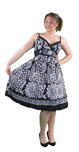 Pistachio Femmes À Rayures Fleur Motif Cachemire Imprime Croisé Front Robe Noir