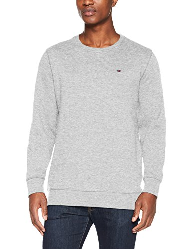 Tommy Jeans Homme Original Sweatshirt  Manches Longues  Gris (Lt Grey Htr 038) Medium