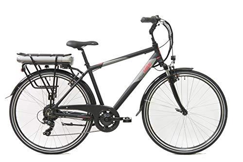 """STAX STX1, Bicicletta Elettrica Uomo, Nero Grigio, 28\"""""""