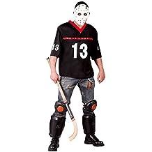 Disfraz de jugador de hockey terrorífico - Estándar