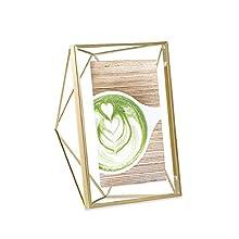 Umbra 313019-040, Prisma Multi Photo Frame in Steel, Matte Gold,10.2 x 15.2 cm