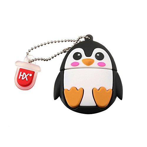 HX 8GB/16GB/32GB Animal de Dibujos Animados Lindo Memoria USB 2.0 Flash Drive Almacenamiento de Datos Memory Stick Pendrive Regalo para Todas las Edades(8GB,Penguin)