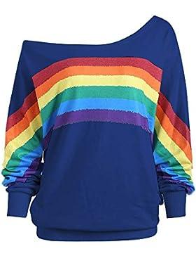 Damark(TM) Camisetas de Manga Larga para Mujer, Blusas para Mujer Verano Camisetas Mujer Camisas Mujer Tops Mujer...