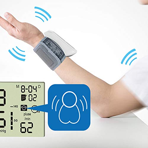 ZNBLLH Handgelenk-EKG-Monitor, Großes Digitale LCD Tragbare medizinische Geräte EKG-, Sphygmomanometer Captures Herzfrequenz, Wellenform und Symptome, unregelmäßiger Rhythmus Detector