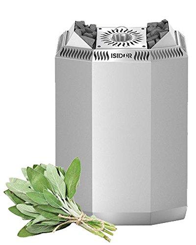 ISIDOR Premium Gartensauna Ardor Bio Elektro- Saunaofen Kaisa mit 8 kW Heizleistung; 4,1m² großem Saunaraum inkl. Sauna-Innenausstattung auf Insgesamt 17,9m² Gebäudefläche