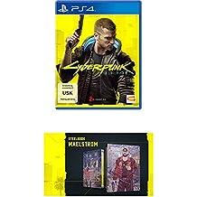 "CYBERPUNK 2077 - DAY 1 Edition - [PlayStation 4] + Cyberpunk 2077 - Steelbook ""MAELSTROM"""