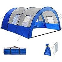 800588 - Tienda de Campaña para 6 Personas, Tienda Túnel, Impermeable, Camping,