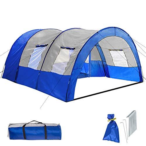 800588 - Tienda de Campaña para 6 Personas, Tienda Túnel, Impermeable, Camping, Acampada - Varios Modelos (Type 2 | No. 402915)