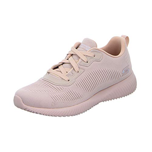 Skechers BOBS SQUAD - TOUGH TALK, Women's Trainers, Pink (Pink Engineered Knit Pnk), 7  (40 EU) - Sneaker Frauen Skechers Bob