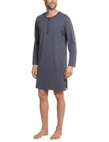 Schiesser Herren Nachthemd lang Einteiliger Schlafanzug, Grau (Anthrazit 203), X-Large (Herstellergröße: 054)