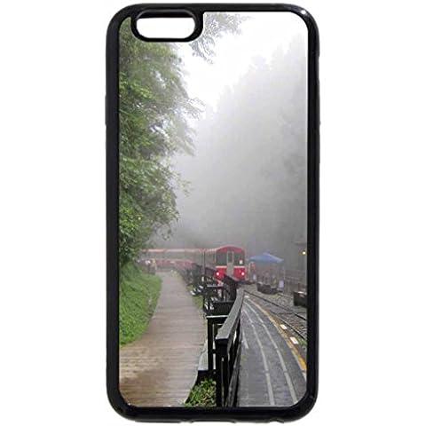 IPhone/6S iPhone 6, colore: nero, motivo: pioggia di nebbia di giorno della stazione ferroviaria di