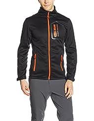 Peak Mountain CRISTOM – Cazadora para hombre, Hombre, color negro/naranja, tamaño large