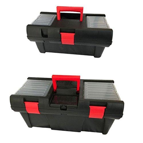 """Universal Werkzeugkoffer Angelkoffer Werkzeugkiste Werkzeugbox Angelbox Transportkoffer Sortimentskasten (40 cm / 16\"""")"""